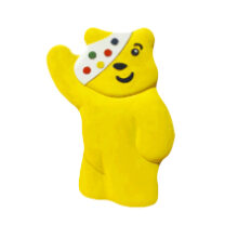 Living Paintings tactile picutre of Pudsey Bear waving