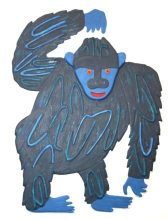 Tactile picture of gorilla in From Head to Toe