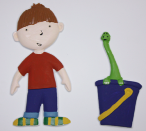 Tactile picture from Harry and a bucket full of dinosaurs