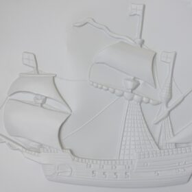 Tactile picture of The Mary Rose from Tudor Times
