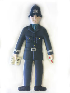A policeman tactile picture.