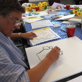 Touch to See book club in Kent with Living Paintings