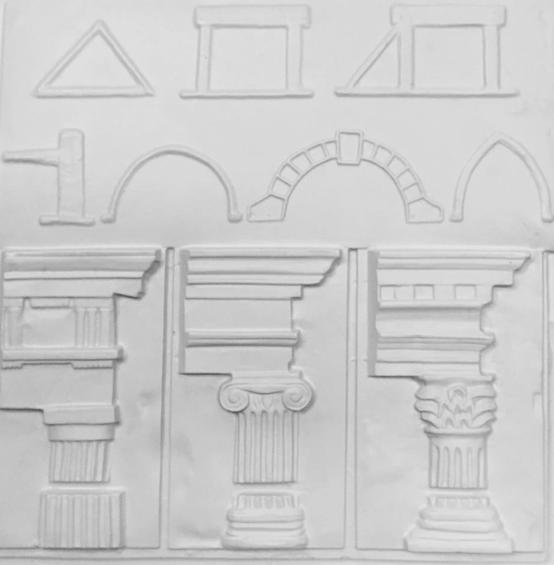 Brilliant buildings tactile picture showing column styles and architectural features