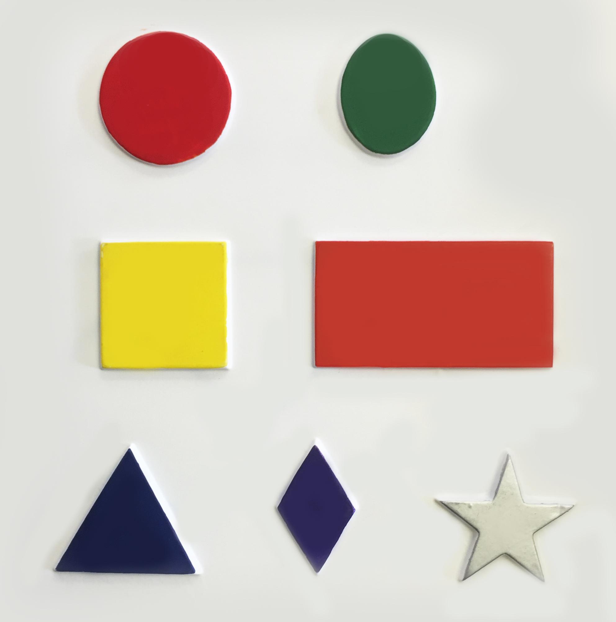 Shapes tactile picutre, oval, circle, square, rectangle, triangle, diamond, star.