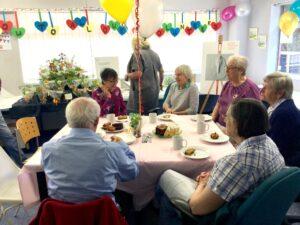 Our volunteers enjoying coffee and cake