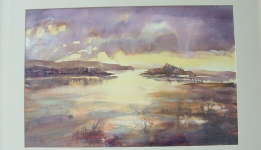 A coastal painting by Ian Reynolds