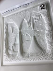 Tactile image of caves from The World Below