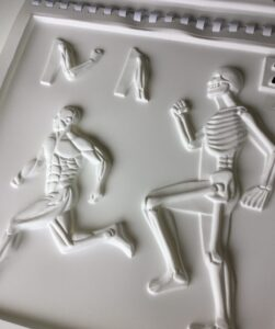 Skeleton tactile from The Body Owner's Guidebook.