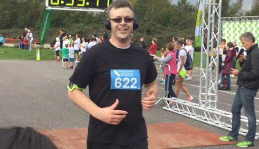 One of our runners completing the 10k