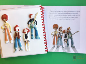 The band tactile and book page from Rapunzel