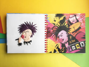 Tactile picture of a punk singer from ABC UK.