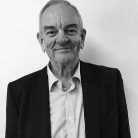 David Brown black and white portrait photo